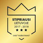 Stipriausi Lietuvoje 2017-2018